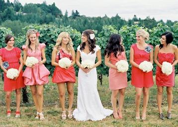 Bridemaids ombre cabo