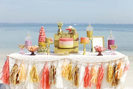 ombre wedding table decoration cabo