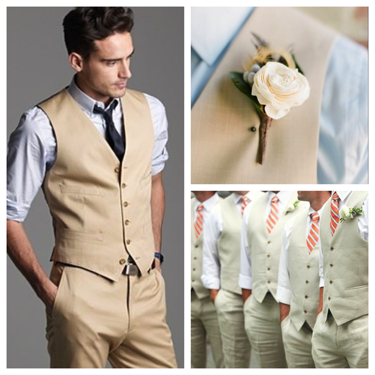 Beach groom fashion style weddings events los for Wedding dress shirts for groom