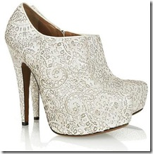 bridal booties
