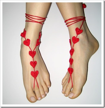 heart sandals