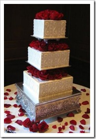 v day wedding cake