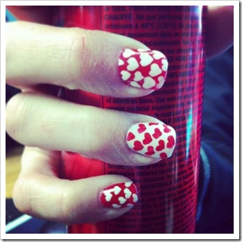 v day wedding nails