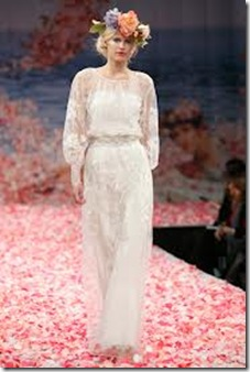 Claire Pettibone peace wedding dress
