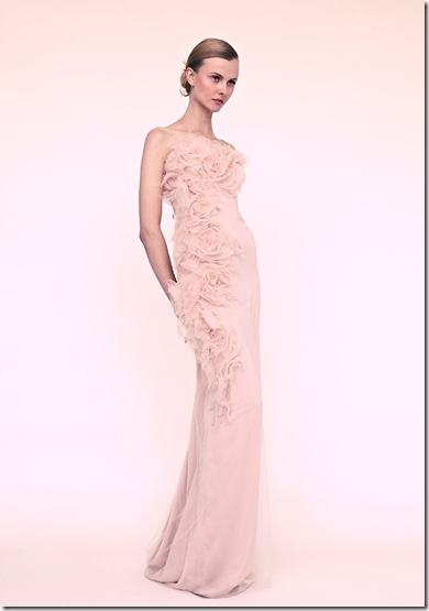Marchesa blush wedding dress