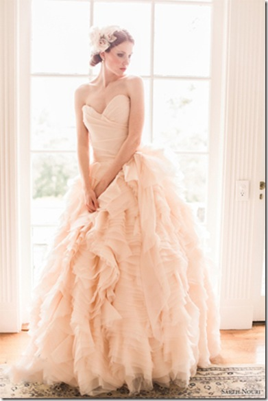 Sarah Nouri peach wedding dress