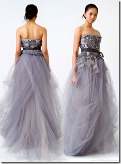 Vera Wang purple wedding dress