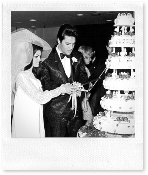 elvis wedding cake