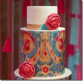 ikat red cake