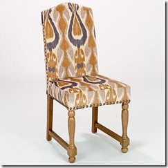 ikat yellow chair