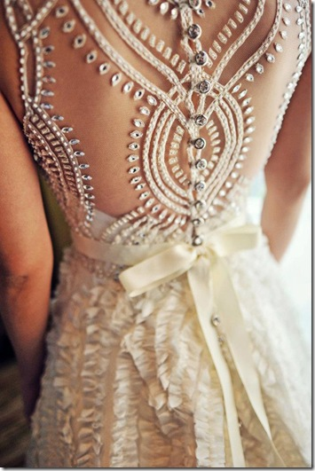 jewel back wedding dress