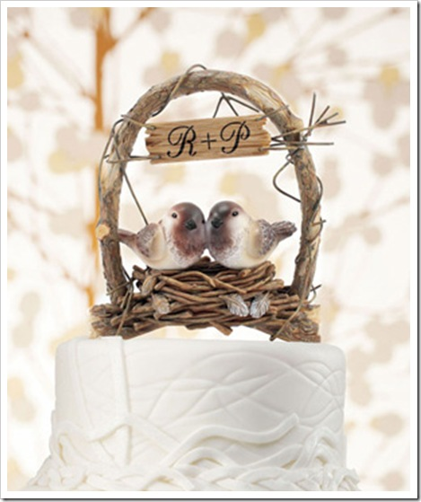 love nest personalized cake topper