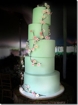 mint flower cake