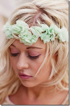 mint flower headpiece