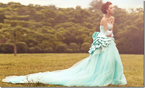 mint wedding dress