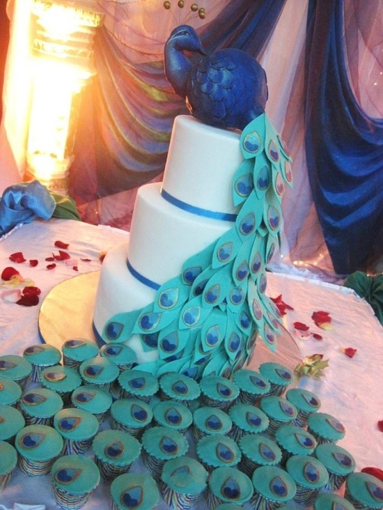 Pea Wedding Cake Topper