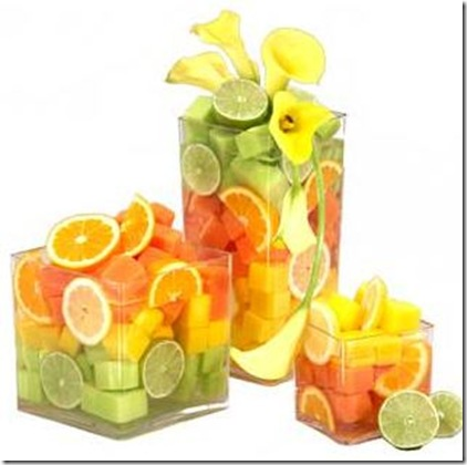 Citrus wedding centerpiece