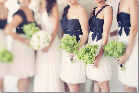 black-and-white-bridesmaids-dresses