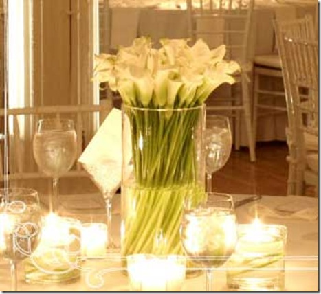 calla lily wedding centerpiece