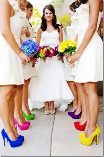colorful bridesmaid pumps