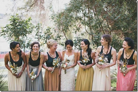 long bridesmaids skirts