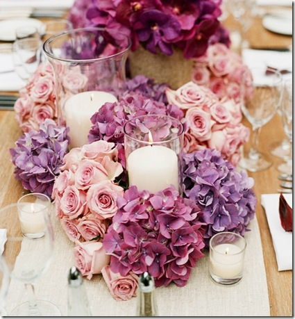 ombre flower centerpiece