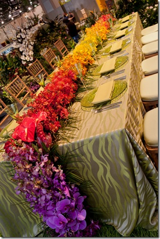 ombre flower runner centerpiece