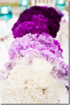purple ombre wedding centerpiece