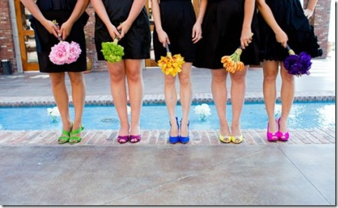 rainbow bridesmaid pumps
