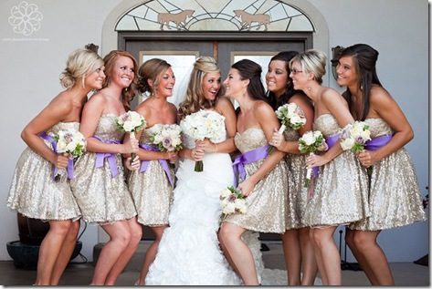 short sequined bridesmaid dresses