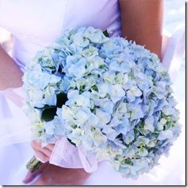 blue hydrangea bouqut