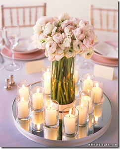 blush ranunculus centerpiece