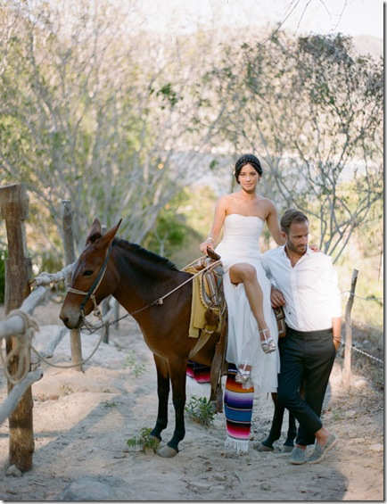 bride groom and burro