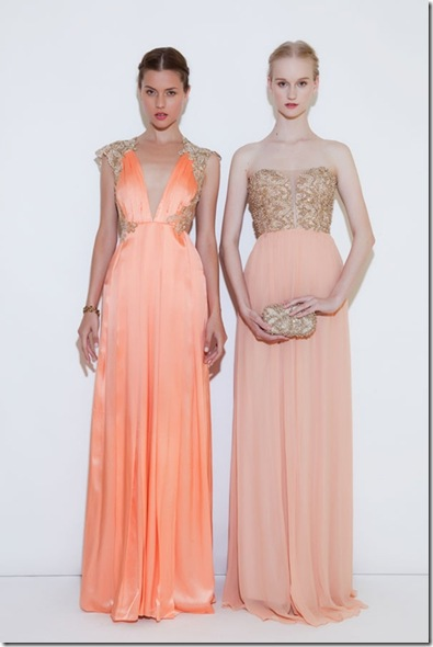 coral orange bridesmaids