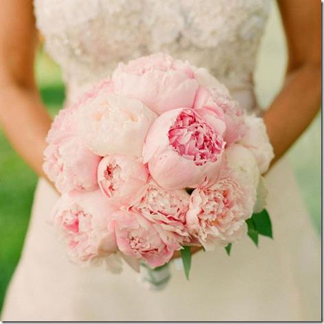 pink peonie bouquet