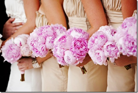 pink peonie bridesmaid