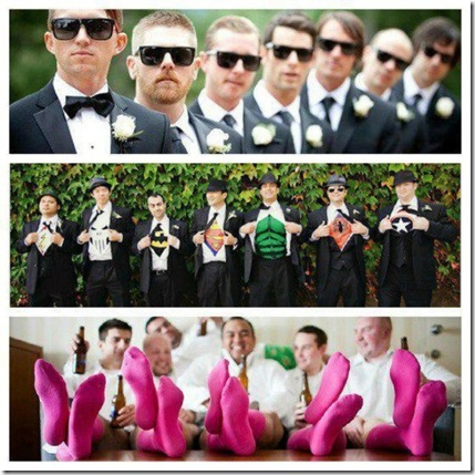 triple cool groomsmen