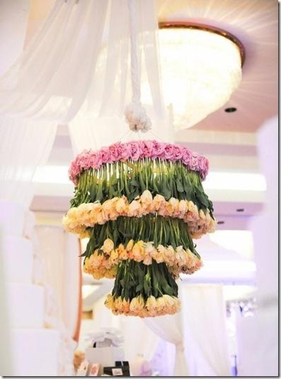 tulip chandelier
