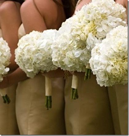 white hydrangea bouquets