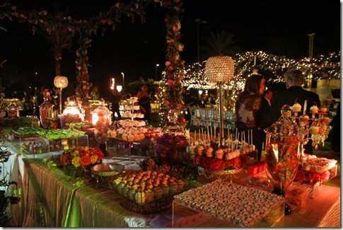 beach wedding dessert table