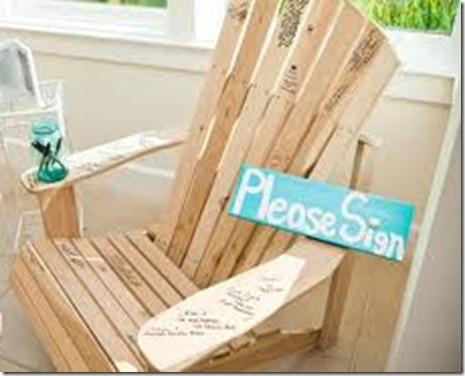 beach wedding guest book