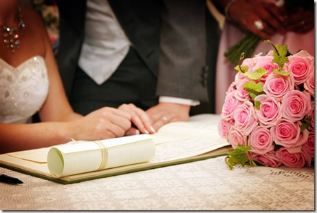 wedding book signing