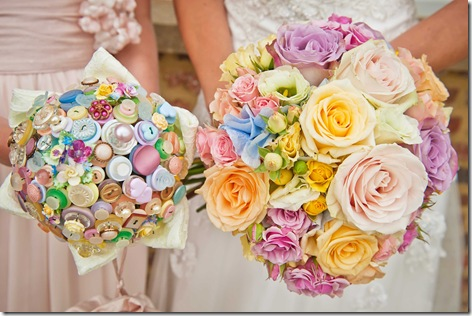 button bridesmaid bouquet