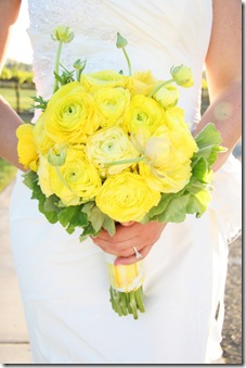 yellow rananculus bouquet